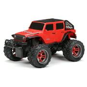New Bright RC 1:16 Scale Remote Controlled Truck 2019 Jeep Wrangler SUV - Orange 2.4GHz USB