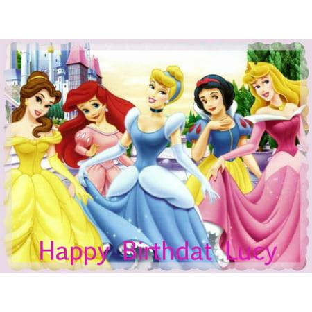 Disney Princesses Edible Cake Toppers Edible Image Cake Toppers Frosting Sheets](Disney Princess Cake Kit)