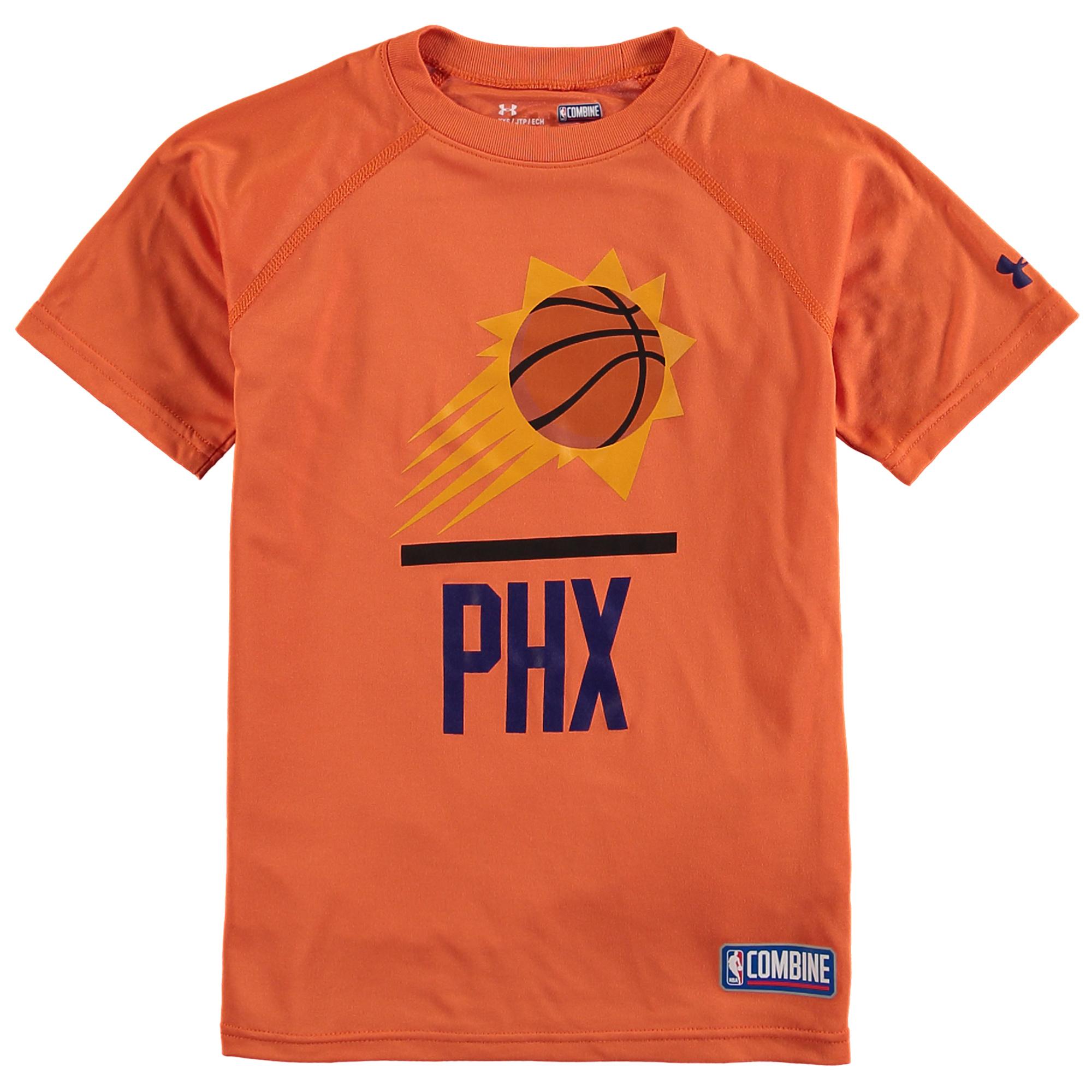 Phoenix Suns Under Armour Youth Authentic Lock Up Performance T-Shirt - Orange