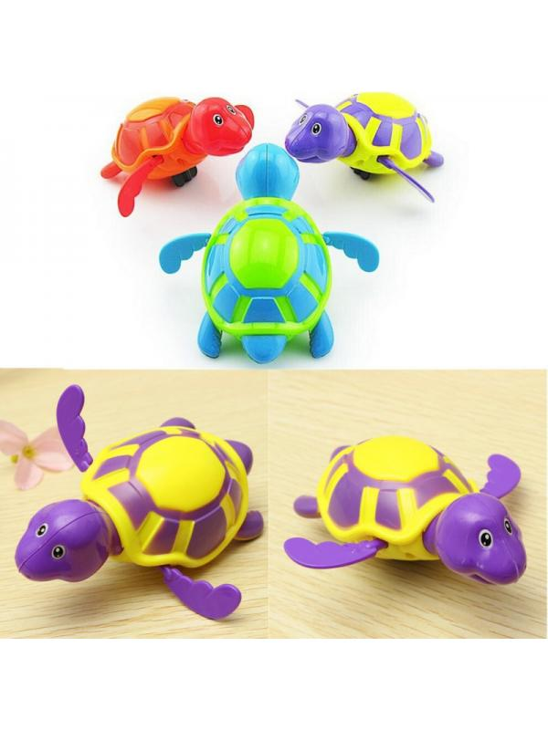 Wind Up Swimming Turtle Toy Floating Baby Pool Bathtub Toys for Kids Toddlers Boys and Girls EEIEER Baby Bath Toys 3 Packs