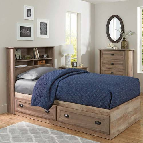 Better Homes and Gardens Lafayette Twin Mates Bed, Washed Oak