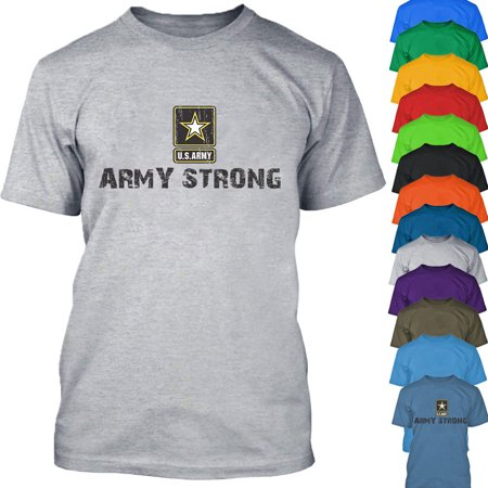 ARMY STRONG Star Logo TSHIRT America US Military Army Forces Tee Shirt Color Carolina Blue Size 3X-Large ()