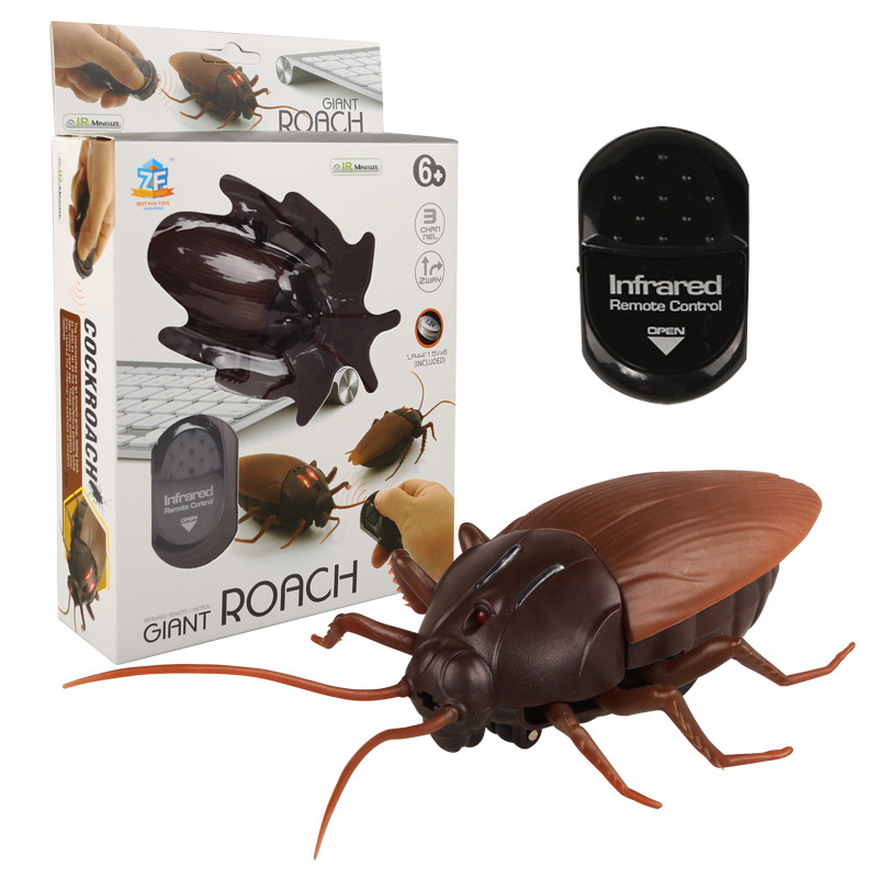 Infrared Remote Control Mock Fake Cockroach RC Toy Prank Insects Joke Scary Trick Bugs for Kid