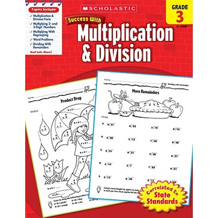 Scholastic Success with Multiplication & Division, Grade - Halloween Multiplication Fourth Grade