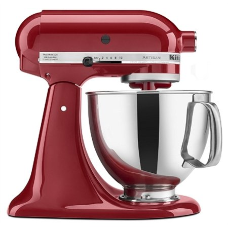 Kitchen Aid Artisan Tilt-Head Stand Mixer with Pouring Shield, 5-Quart, Empire Red KSM150PSER