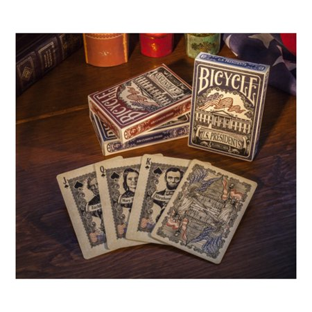 Bicycle US Presidents Playing Cards with 44 Presidents 4 First Ladies - 1 Deck #1033317