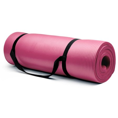Crown Sporting Goods 3 4   Extra Thick Yoga Mat  Pink