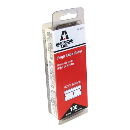 66-0089 Single Edge Razor Blade Box (Pack of 100), Precision ground high carbon steel knife blades By American Safety Razor