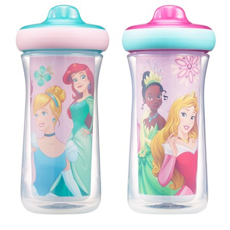 Disney Princess ImaginAction Insulated Hard Spout Leak Proof Sippy Cups 9 Oz - 2 (Feeding Baby Solids For The First Time)