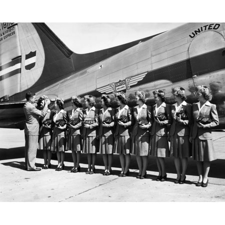 Don F Magarrell Gives New United Airlines Stewardesses Their Wings The National Defense Business Caused A Growth In Air Traffic History