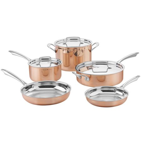 - Cuisinart CTPP-8 Cuisinart Tri-Ply Copper Cookware Set (8-Piece)