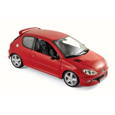 2003 Peugeot 206 RC, Red - Norev 184823 - 1/18 Scale Diecast Model Toy Car