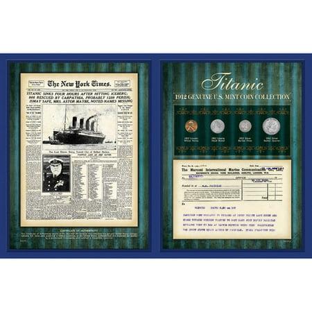 American Coin Treasures New York Times 1912 With Marconi Telegram Framed Memorabilia