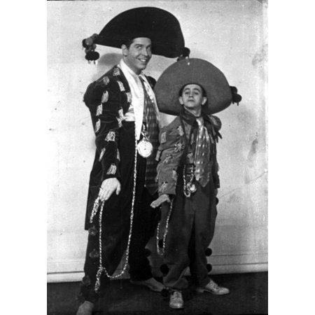 Milton Berle and a boy in mariachi costume Photo Print (Mariachi Costumes)