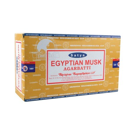 15g Incense - 15g Egyptian Musk Sai Baba Incense - 12 Pack..., By Satya Ship from US