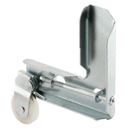 "CRL Stamped Aluminum Corner Insert With 1"" Nylon Ball Bearing Center Groove Sliding Screen Door Roller for Metal Industry"