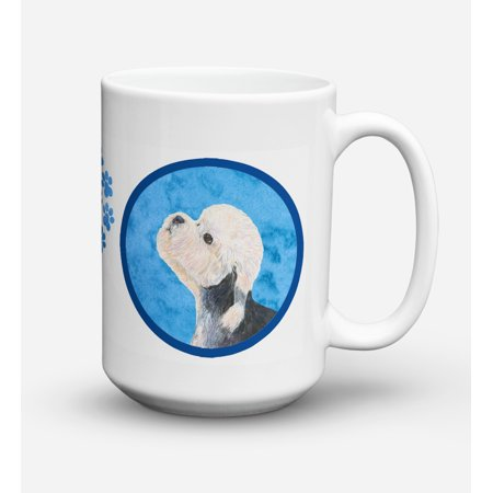 Dandie Dinmont Terrier Dishwasher Safe Microwavable Ceramic Coffee Mug 15 ounce SS4779