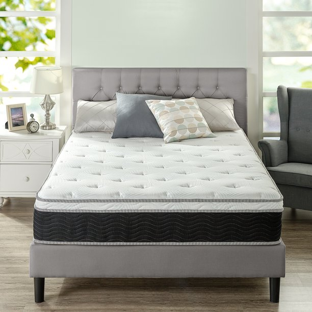 "Slumber 1 by ZINUS 12"" Euro Top Supportive Firm Hybrid Mattress, Queen"