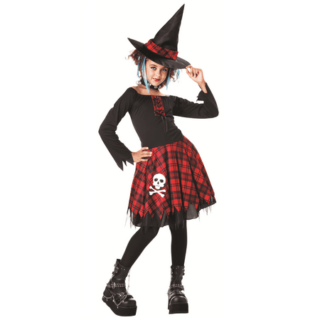 Tween Punky Witch Girl's Halloween Costume Ages 10-12](Halloween Food Ideas For Tweens)
