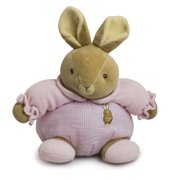 """Baby Bow Playtime Bunny Pink 13"""" by Russ Berrie"""