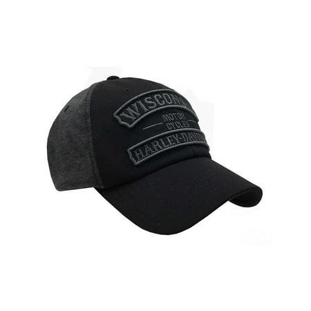Harley-Davidson Men's Embroidered Vintage Rockers Baseball Cap, Black BCC25175, Harley Davidson