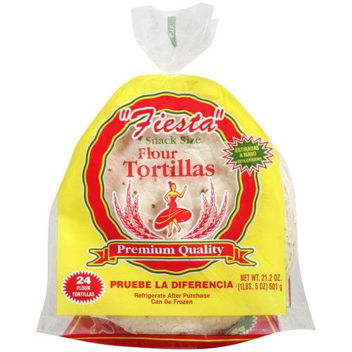 Fiesta Snack Size Flour Tortillas, 24 tortillas, 21.2 oz
