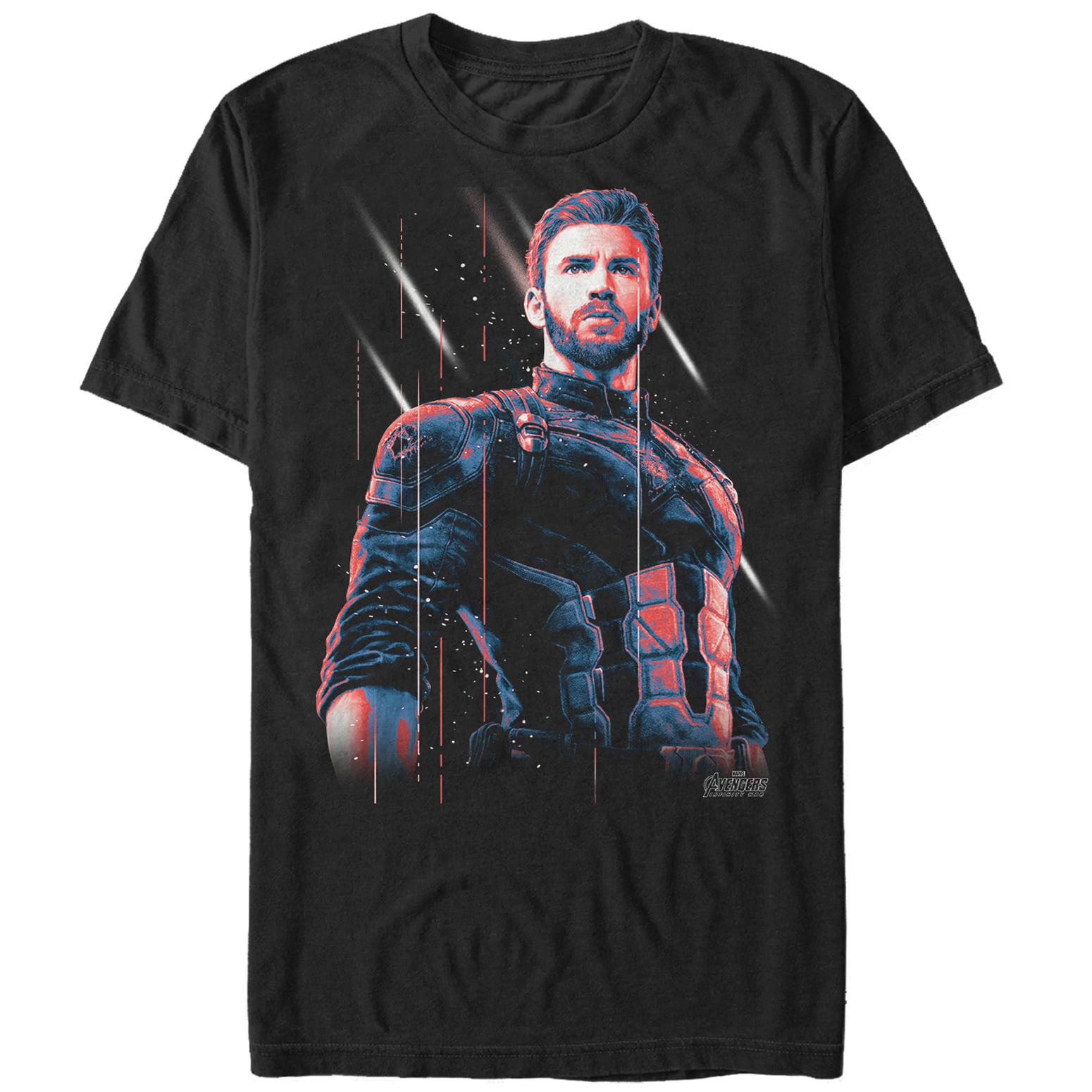 Marvel Men's Avengers: Infinity War Captain America Streak T-Shirt