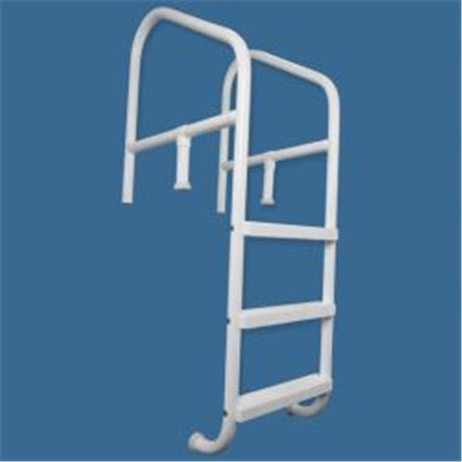 Saftron CBL-336-5S-G Commercial In-ground 5 Step, Cross Braced Ladder 36 x 91 in. Gray