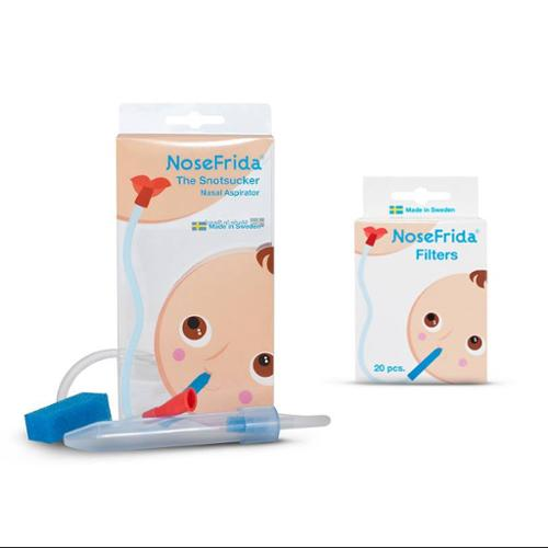 "Nosefrida ""The Snotsucker"" Nasal Aspirator with 20 Additional Replacment Filters"