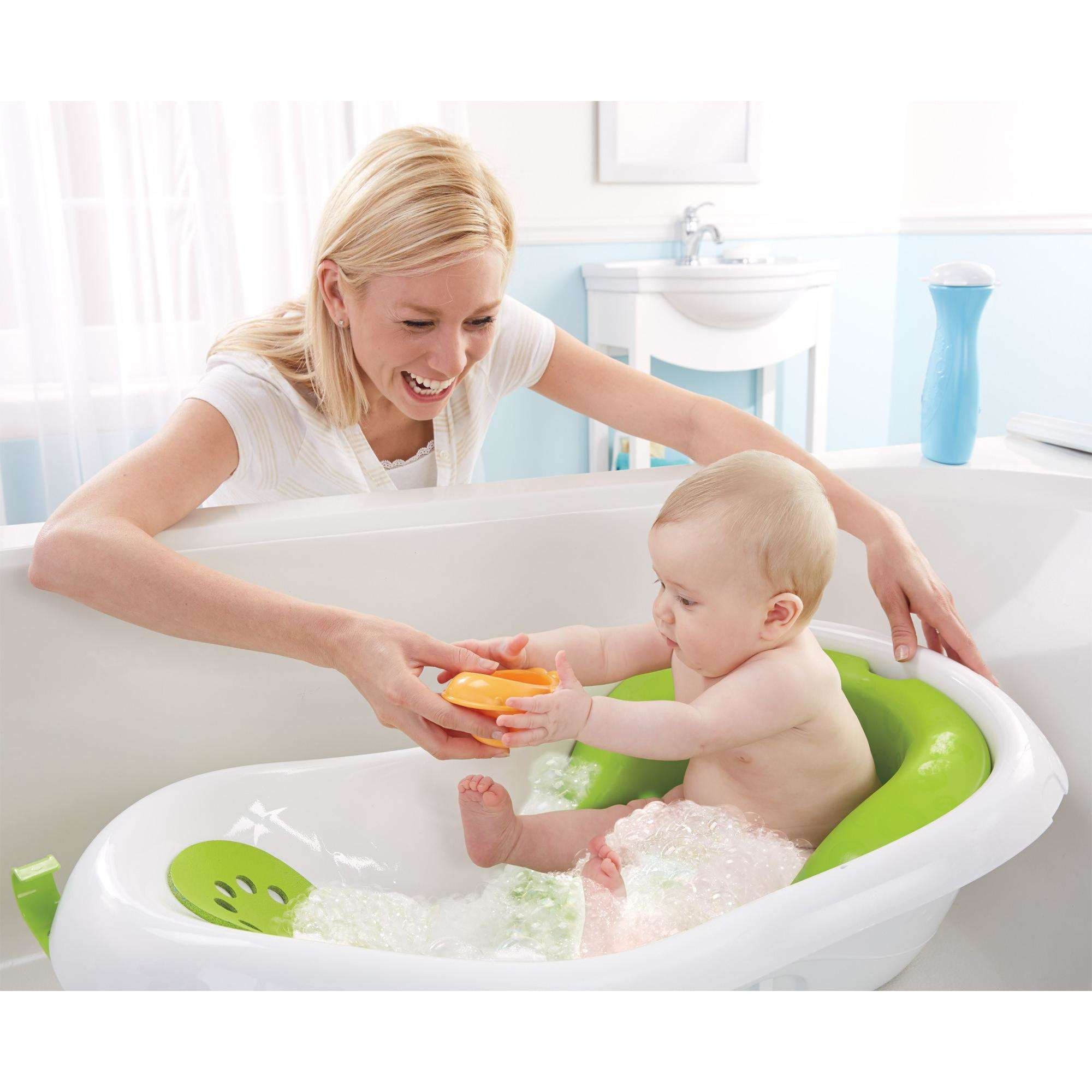 Fisher-Price 4-in-1 Sling \'n Seat Tub Green Bathroom Baby Bath ...