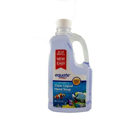 Equate Clear Liquid Hand Soap Refill  56 Oz