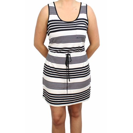 Olive & Oak Womens Sleeveless Jersey Knit Tank Dress (Black/White Stripe, Large)](Black White Striped Dress Halloween)