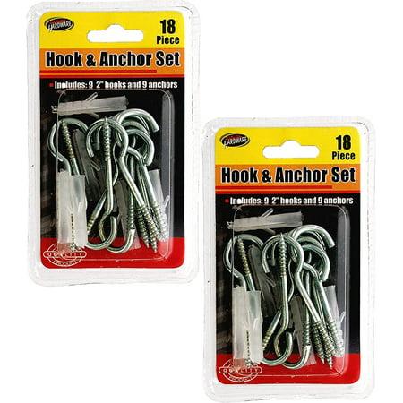 Kole Imports 18pc Metal Hook & Anchor Set (2 Pack)