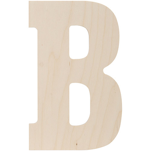 """Baltic Birch Collegiate Font Letters & Numbers, 13.5"""""""