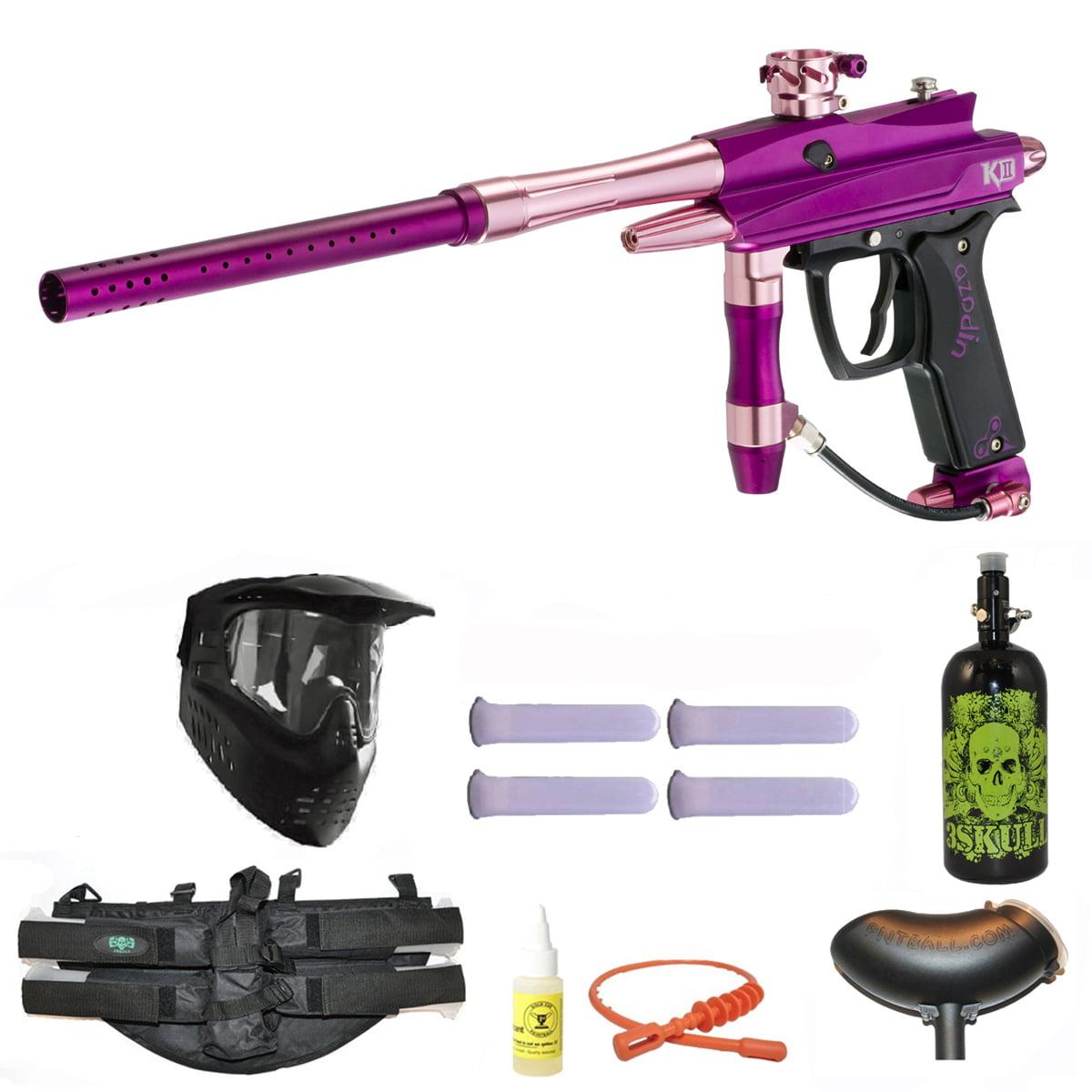 Azodin Kaos-D II Paintball Marker Gun 3Skull 4+1 Nitro Mega Set Aurora by