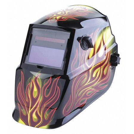 Welding Helmet,Brown,Ratchet,Plastic LINCOLN ELECTRIC K4071-1