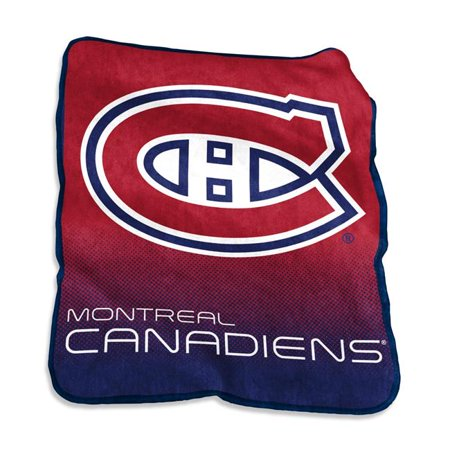 Logo Brands 816-26A Montreal Canadians Raschel Throw - image 1 de 1