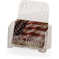 Officemate OIC Single Pocket Literature Holder, 6.5 inch wide Leaflets, 6/Pack, Clear (23068)