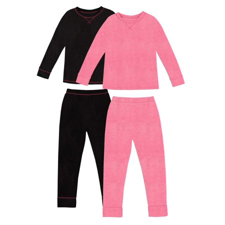 Stretch Fleece Warm Long Underwear, 2pk (Toddler Girls)