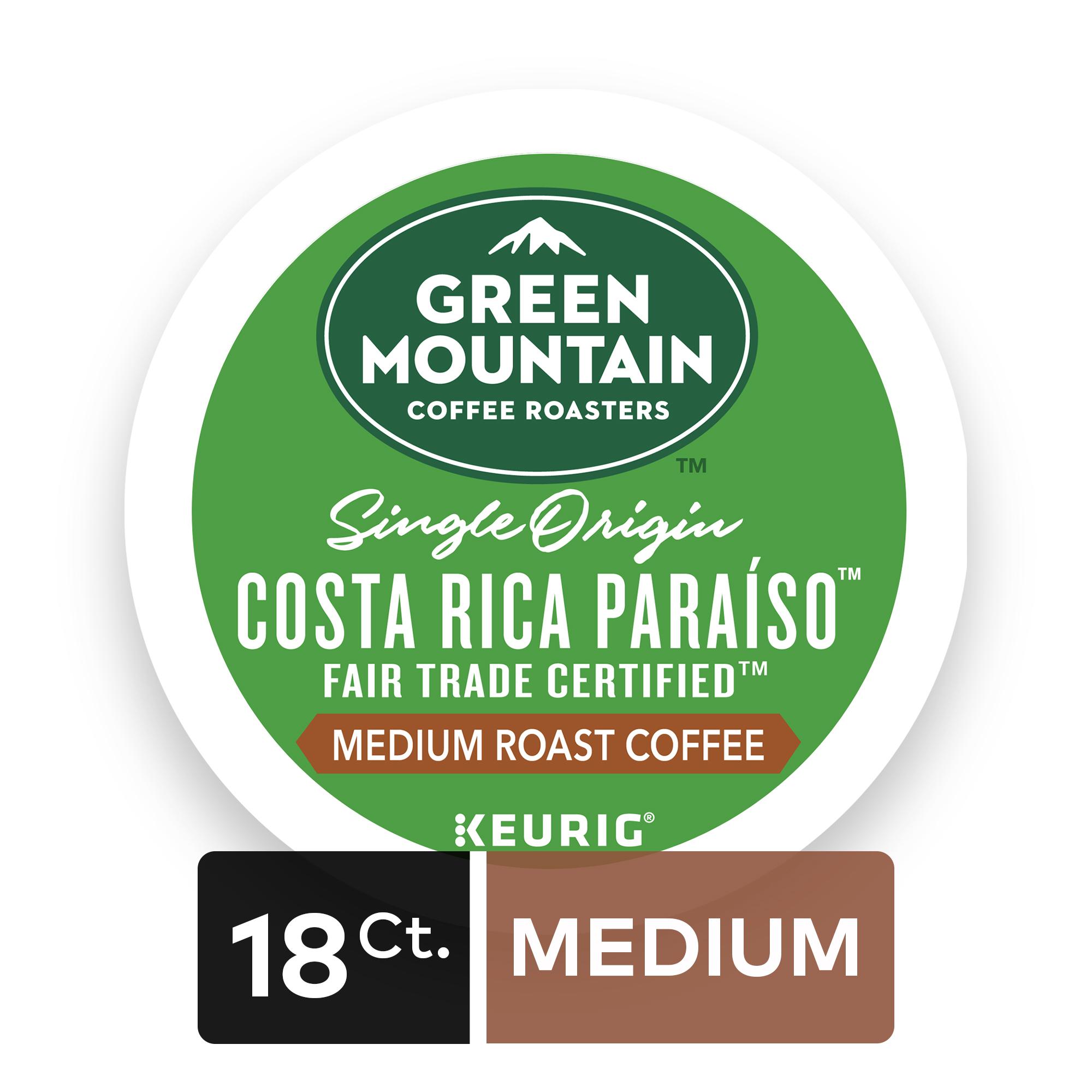 Green Mountain Coffee Costa Rica, Keurig K-Cup Pods, Medium Roast, 18 Count