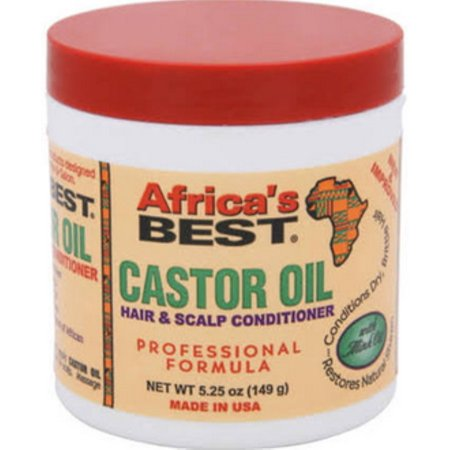 Africas Best Castor Oil Hair & Scalp Conditioner, 5.25 oz (Pack of