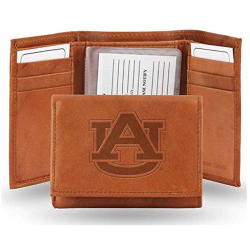Rico NCAA Auburn Embossed Leather Trifold Wallet