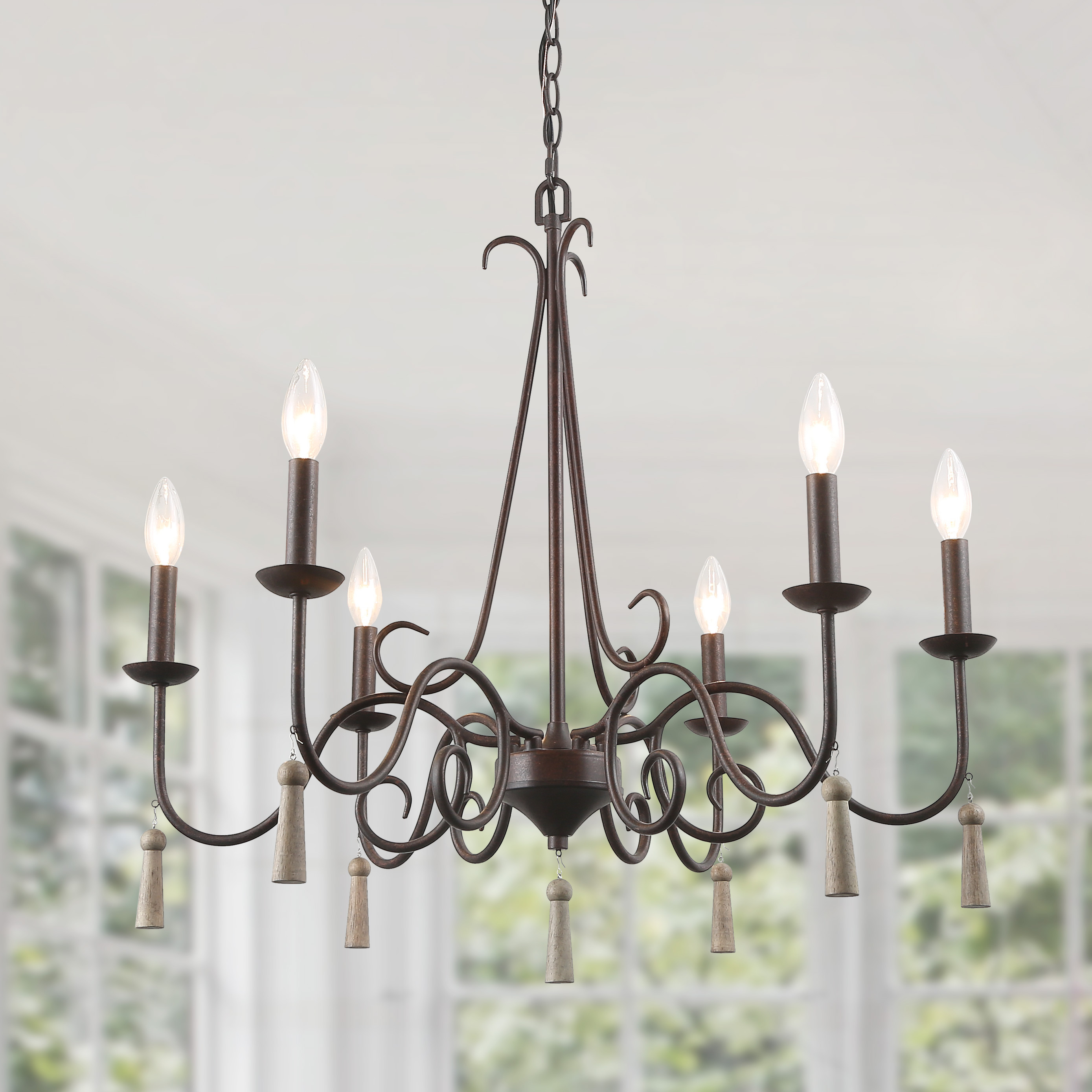 Lnc Rustic French Country Chandelier 6