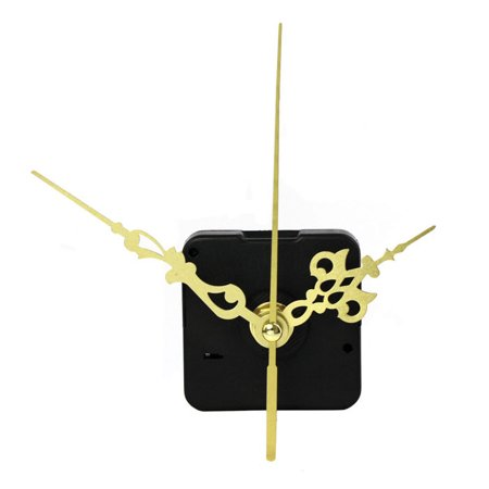 iLH 1pc Quartz Clock Movement Mechanism DIY Repair Parts Gold + Hands New