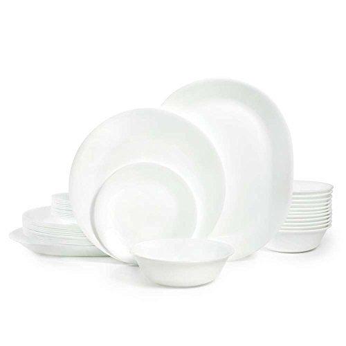 Corelle Winter Frost White Dinnerware Set 38 Piece Service For 12 Walmart Com Walmart Com