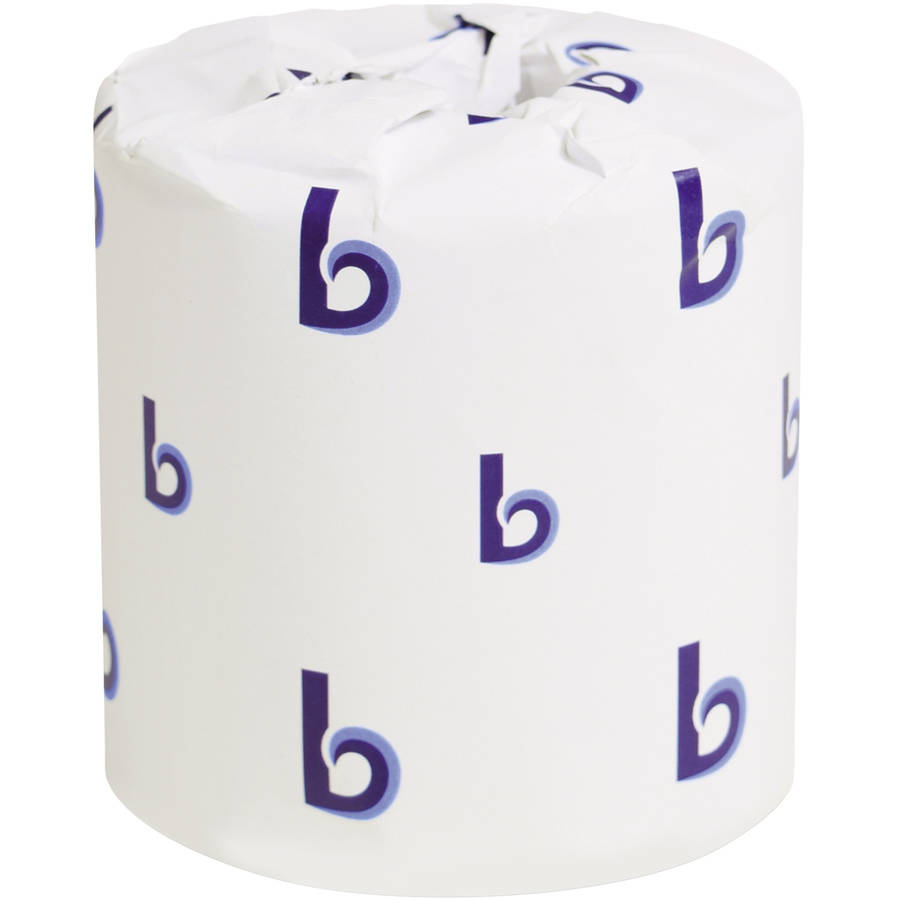 Boardwalk Two-Ply White Bath Tissue, 500pk, 96/Case