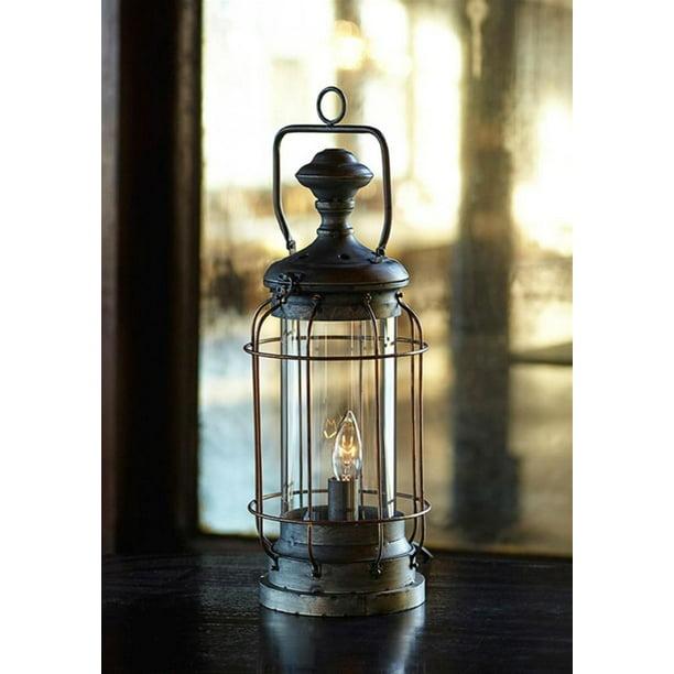 Metal Electric Lantern Table Top Lamp, Electric Lantern Table Lamps
