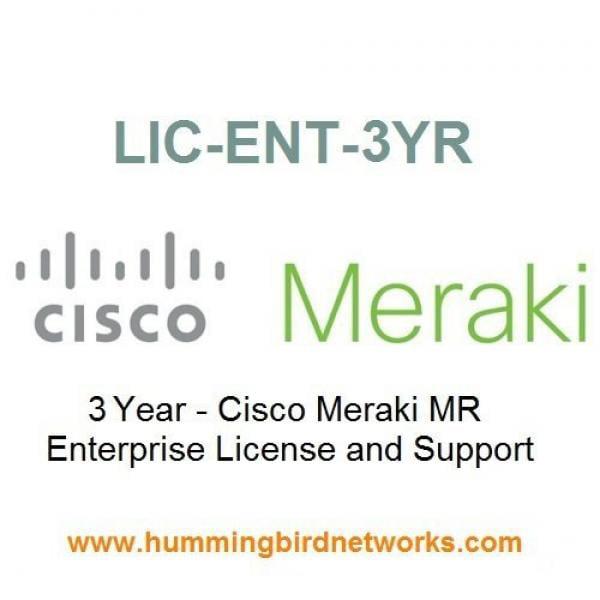 Meraki Enterprise Subscription License for Meraki MR Series wireless access points - 3 Years Contract LIC-ENT-3YR