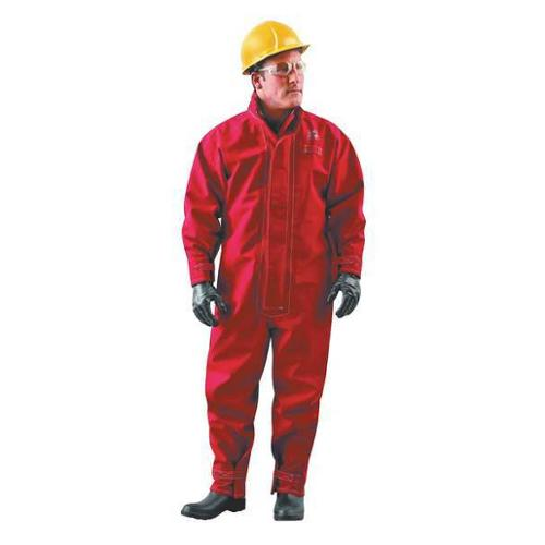 ANSELL Chemical Resistant Coverall, Red, GORE(R) Membrane, L, 66-667