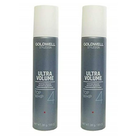 Goldwell Stylesign 4 Ultra Volume Top Whip Shaping Mousse 9.9 oz. Pack of 2 (Goldwell Mousse)